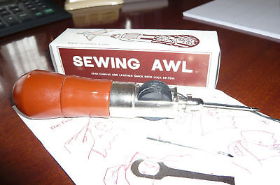Sewing Awl . Comes with Two Spare Reels of Waxed Thread.