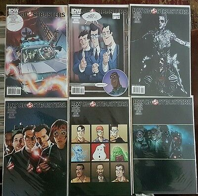 Ghostbusters IDW COMICS issues 1 2 3 4 & 5 includes #4 variant