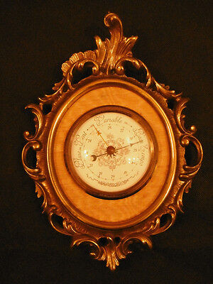 BAROMETER ROCOCO STYLE - FUNCTIONAL - 10.64 inches - FRENCH ANTIQUE