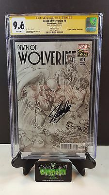 Death Of Wolverine  #1 Ross Sketch Variant 1:300 Cgc Ss 9.6 Signed By Stan Lee