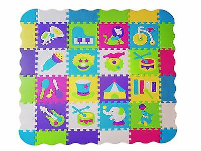 Baby Play Puzzle Mat with foldable borders 36pcs