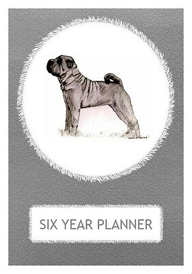 Shar Pei Dog Show Six Year Planner/Diary by Curiosity Crafts 2017-2022