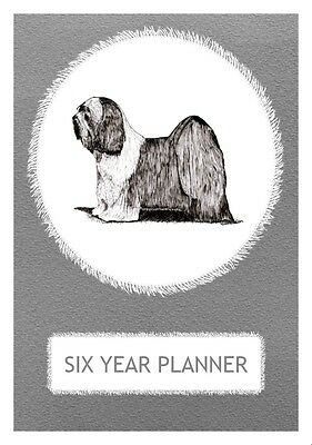 Tibetan Terrier Dog Show Six Year Planner/Diary by Curiosity Crafts 2017-2022