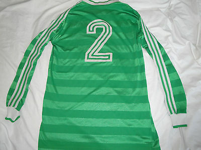 Vintage Green Adidas Football shirt jersey trikot West Germany #2 1970s D(7/8) L
