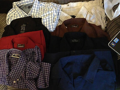 A Job Lot Of 8 Mens Shirts - Mixed Sizes And Makes - Good Condition