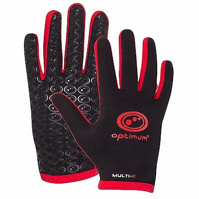 Optimum Sports Multi-X Full Finger Lightweight Full Finger Gloves-Black/Red