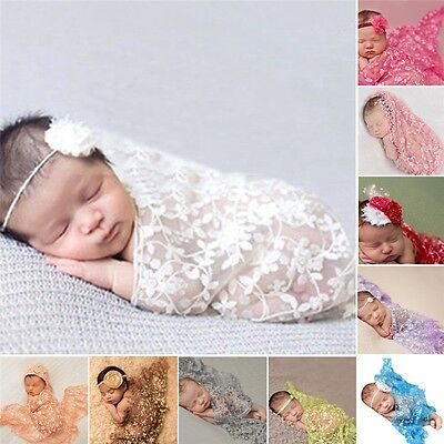 Embroidery Lace Baby Photography Props Newborn Photography Wrap