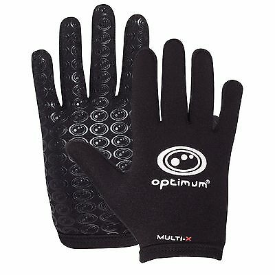 Optimum Sports Multi-X Full Finger Lightweight Rugby Winter Glove -Black