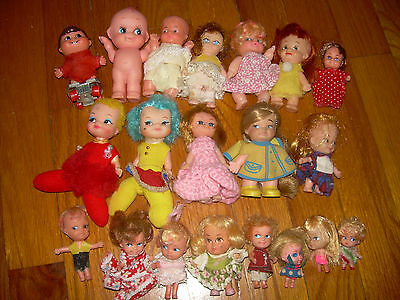 Vintage Little Kiddle Doll Lot & other brands Mixed Doll Lot Collectible