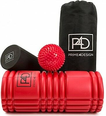 Foam Roller Rumble 2 In 1 Set With Massager Ball For Deep Tissue Sports Massage