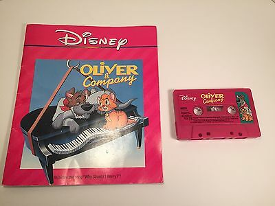 Disney Read Along Book and Audio Tape Oliver & Company 1988