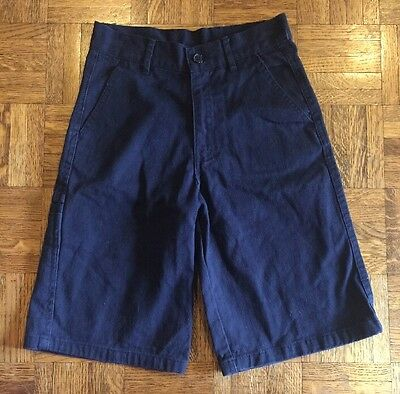 Boys Beverly Hills Polo Clubs Uniform Shorts Navy Blue Size 7 Good Condition
