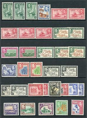 Fiji 1938-55 complete set of 34 inc all perfs and shades SG249/66b MM cat £388