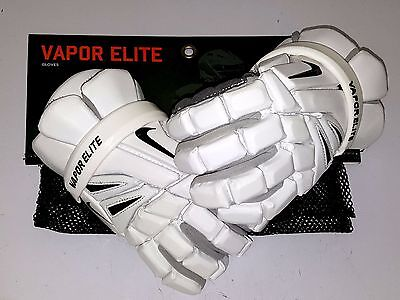 "037 New White Medium 12"" Nike Vapor Elite Lacrosse Gloves Geve4F"