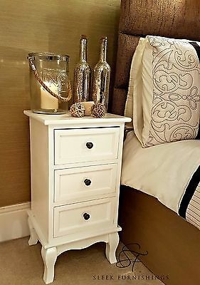 Pair Of White Rose Wooden Bedside Cabinet Nightstands Tables,bedroom Furniture