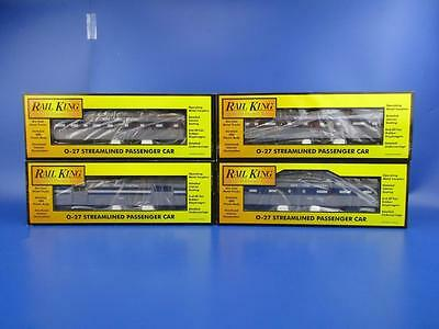 Rail King O Gauge Rake Of 4 Nyc Passenger Cars '437' '450' '1331' And 'miller