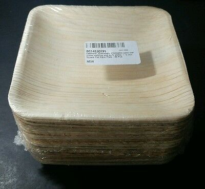 NEW Ecofriendly Disposable Palm Leaf Plates Wedding & Party (6 inch, 25 Plates)