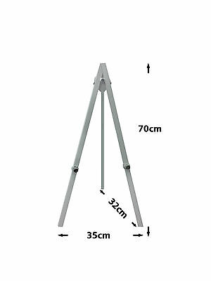 Tripod Table top display Easel wedding picture photo stand A1 White black silver