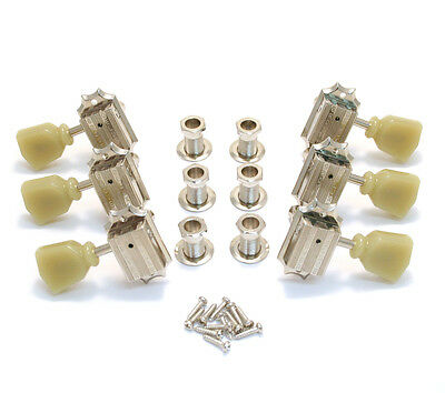 Grover Nickel 3+3 Vintage Deluxe Tuners for Gibson®/Epiphone® Guitar 135N