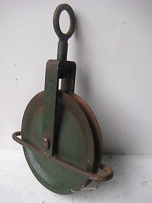 Vintage rope pulley block and tackle