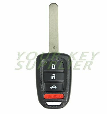 2013 2014 2015 Honda Accord Civic Keyless Remote Head Key Fob Replacement