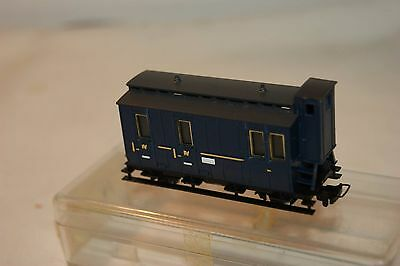 009 HOe Narrow Gauge EXCELLENT Eggerbahn 4th Class Brake Coach Blue BOXED