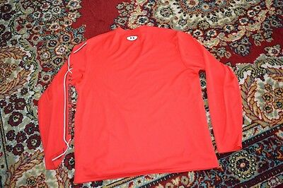 UNDER ARMOUR men SPORT SHIRT TRULY RED long sleeve sz -LG NEW