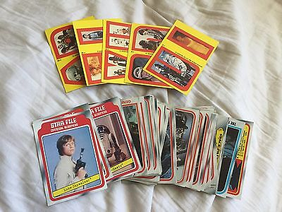 Star Wars Empire Strikes Back Cards w/ Stickers 1980 67 cards 5 Stickers Lot