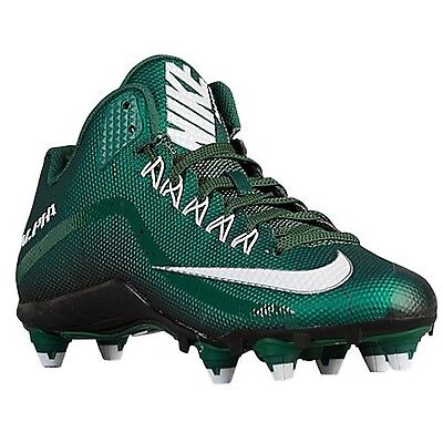 Nike Alpha Pro 2 D Football Cleats Shoes Forest Green Black White Mens Size 13