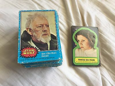Star Wars Trading Cards Series 1 Blue 128 Cards + 16 Stickers Duplicates
