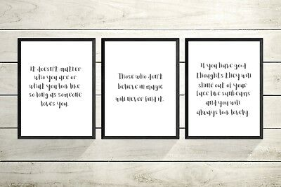 set of 3 Roald Dahl Quote A4 Print-nursery Prints -CHRISTENING GIFT-new Baby -