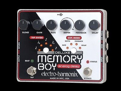 Electro-Harmonix DELUXE MEMORY BOY Pedal with PSU - New!