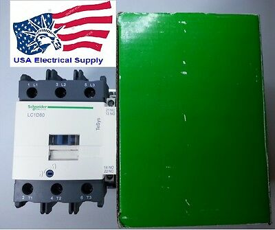 New Schneider Contactor  LC1D80B AC Coil 24VAC Available  50/60Hz 80A