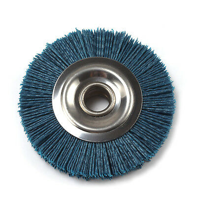 4 Inch Abrasive Nylon Wheel DuPont Silk Polishing Wheel Disc Brush 120 Grit 2Pcs