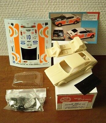 Datsun Violet SSS Acropoli Rally '77 KIT Montaggio 1/43 Mini Racing Rare Limited