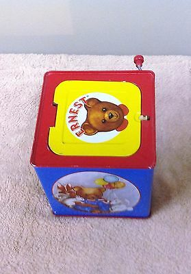Vintage 1993 Schylling Ernest The Bear Jack In The Box