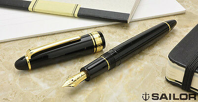 SAILOR 1911 GT stylo plume or 14K (MF) JAPON FOUNTAIN PEN GT JAPAN 14K Gold Nib