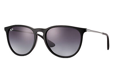 Ray Ban Erika RB4171 Black Frame Grey Gradient Lens Sunglasses 54mm