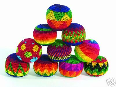 Fair Trade SET 3 Haki Hacky Sacks Juggling Stress squeeze Balls circus skills