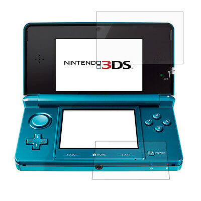 3 x screen protector guard for nintendo 3DS Top & Bottom Screen Protectors with
