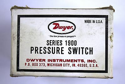 Dwyer 1900 Series Pressure Switch 1910-0 - New In Box As Shown