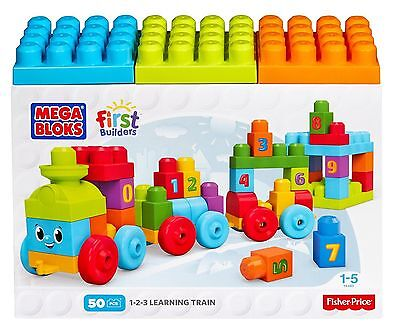 Fisher Price Mega Bloks Train First Builders 123 Toy Learn N Play