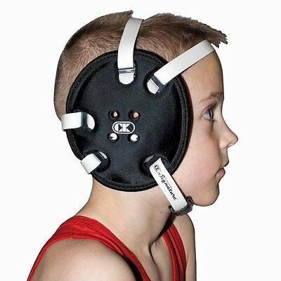 Cliff Keen Youth/Kids Signature Headgear/Earguards, Adjustable, YE58 - Black