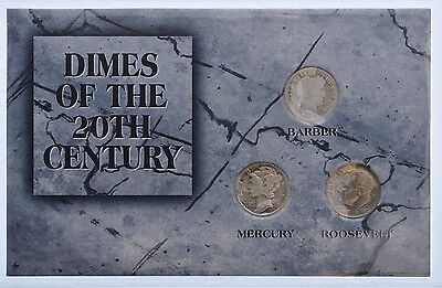 Morgan Mint Dimes of the 20th Century Coin Collection 1910 1936 1980 Barber Dime