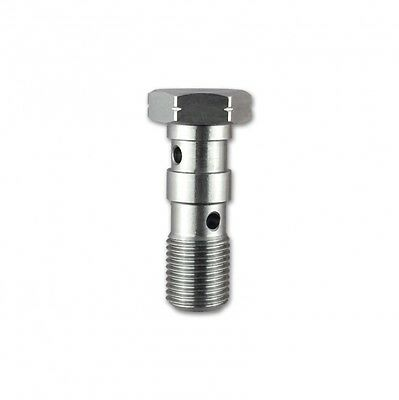 HEL M10 x 1.00 Stainless Steel Double Banjo Bolt (Fits Brembo Master Cylinders)