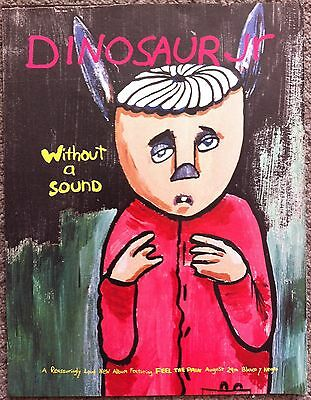 DINOSAUR JR - WITHOUT A SOUND 1994 Full page press ad