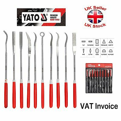 Yato Professional Needle Diamond Jewelers File Metal 3x140mm Set of 10 YT-6145