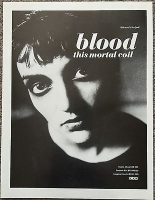 THIS MORTAL COIL - BLOOD 1991 full page UK press ad 4AD