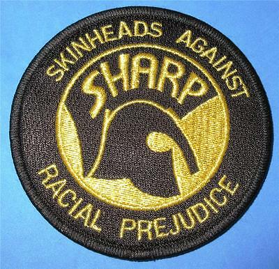 Skinhead Ska Reggae Patch - Sharp - Black / Gold