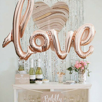 ✧ Foil LOVE Party Script Balloon ✧ Party Lounge ✧ Rose Gold or Red ✧